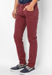 Vĩnh Tài Men Slim Jeans In Burgundy